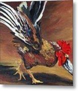 Dancing Rooster  Metal Print by Torrie Smiley