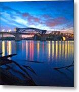 Dawn Along The River Metal Print by Steven Llorca