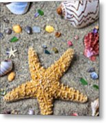 Day At The Beach Metal Print by Garry Gay