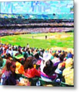 Day Game At The Old Ballpark Metal Print by Wingsdomain Art and Photography