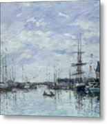 Deauville The Dock Metal Print by Eugene Louis Boudin