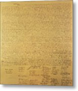 Declaration Of Independence Metal Print by American School