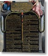 Declaration Of The Rights Of Man And Citizen Metal Print by French School