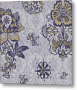 Deco Flower Blue Metal Print by JQ Licensing