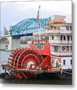 Delta Queen In Chattanooga Metal Print by Tom and Pat Cory