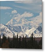 Denali In Broad Pass Metal Print by Donna Quante