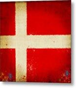 Denmark Flag Metal Print by Setsiri Silapasuwanchai
