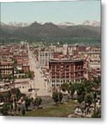 Denver, Colorado, Photochrom By William Metal Print by Everett