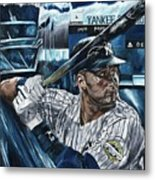 Derek Jeter Metal Print by David Courson