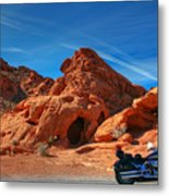 Desert Rider Metal Print by Charles Warren