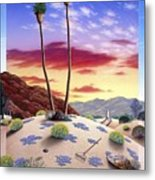 Desert Sunrise Metal Print by Snake Jagger