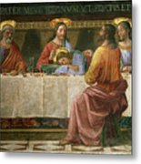 Detail From The Last Supper Metal Print by Domenico Ghirlandaio
