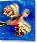 Detail Of Bird People Flying Chaffinch  Metal Print by Sushila Burgess