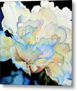 Dew Drops On Peony Metal Print by Hanne Lore Koehler