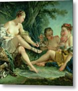 Diana After The Hunt Metal Print by Francois Boucher