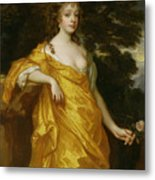 Diana Kirke-later Countess Of Oxford Metal Print by Sir Peter Lely