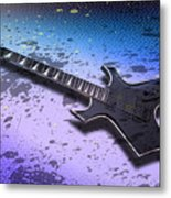 Digital-art E-guitar II Metal Print by Melanie Viola