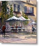Dining Alfresco Metal Print by Ryan Radke