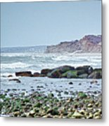 Ditch Plains Long Island Metal Print by Linda Pulvermacher