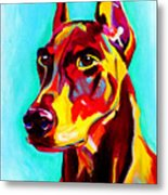 Doberman - Prince Metal Print by Alicia VanNoy Call
