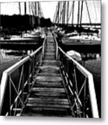 Dock And Sailboats Metal Print by Kevin Mitts