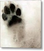 Dog Art - I Paw You Metal Print by Sharon Cummings