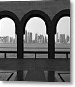 Doha Skyline From Museum Metal Print by Gregory T. Smith