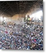 Domestic Waste Treatment Centre Metal Print by Photostock-israel