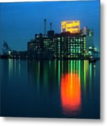 Domino Sugars Baltimore Maryland 1984 Metal Print by Wayne Higgs