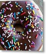 Donut With Sprinkles Metal Print by Kim Fearheiley