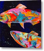 Dos Brown Trout Metal Print by Tracy Miller