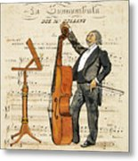 Double Bass Player Metal Print by Paul Helm