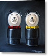 Double Dog Dare Metal Print by Cindy Cradler