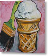 Double Icon Metal Print by Tilly Strauss