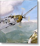 Double Trouble Over The Eagle Metal Print by Marc Stewart