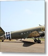 Douglas C47 Skytrain Military Aircraft 7d15788 Metal Print by Wingsdomain Art and Photography