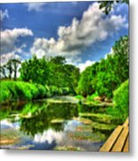 Down By The Riverside Metal Print by Kim Shatwell-Irishphotographer