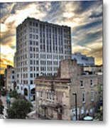 Downtown Appleton Skyline Metal Print by Mark David Zahn