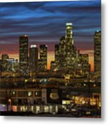 Downtown At Dusk Metal Print by Shabdro Photo