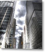 Downtown Hdr Metal Print by Robert Ponzoni