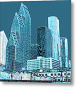 Downtown Houston Metal Print by Fred Jinkins