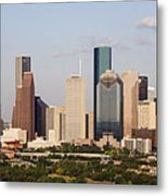 Downtown Houston Skyline Metal Print by Jeremy Woodhouse