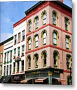 Downtown Ithaca Architecture  Metal Print by Christina Rollo