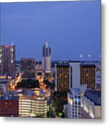 Downtown San Antonio At Night Metal Print by Jeremy Woodhouse