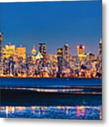 Downtown Vancouver From Spanish Banks Beach Metal Print by Alexis Birkill