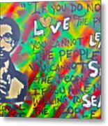 Dr. Cornel West  Love The People Metal Print by Tony B Conscious