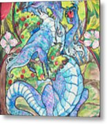 Dragon Apples Metal Print by Jenn Cunningham