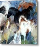 Dream Of Wild Horses Metal Print by Christie Michelsen