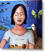Dream Within A Dream 3 Metal Print by Leah Saulnier The Painting Maniac