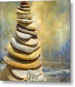 Dreaming Stones Metal Print by Carol Cavalaris